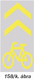 Kerékpárosnyom tábla - új kresz