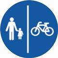 Gyalog- és kerékpárút tábla