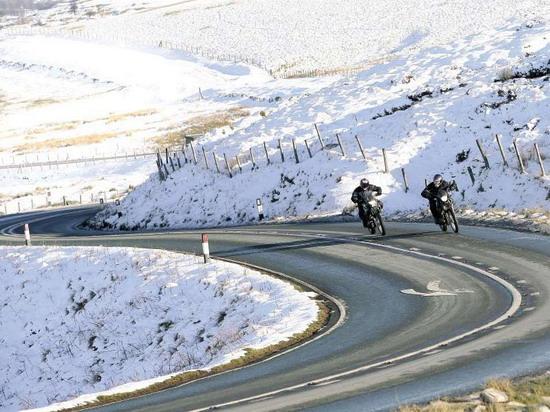 A téli motorozás is nagy élmény
