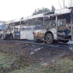 Kiégett Egy Autóbusz Inárcsnál