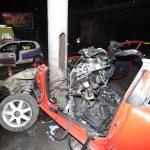Villanyoszlopnak ütközött Egy Autó Angyalföldön
