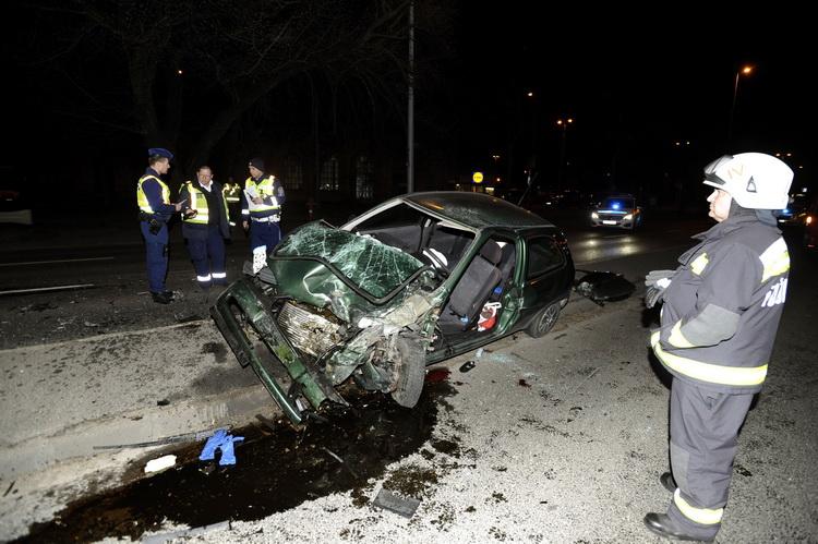 Két Autó ütközött össze A Váci úton