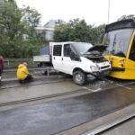 Teherautó és Villamos ütközött össze A Fővárosban