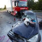 Személyautó és Kamion ütközött Nagykanizsán