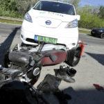 Motoros és Autó ütközött Pesterzsébeten