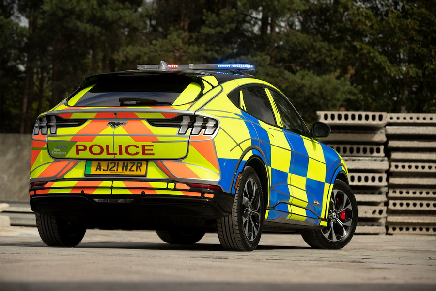 Ford Mustang Mach E Police Car At Safeguard Svp, Earls Colne, Es